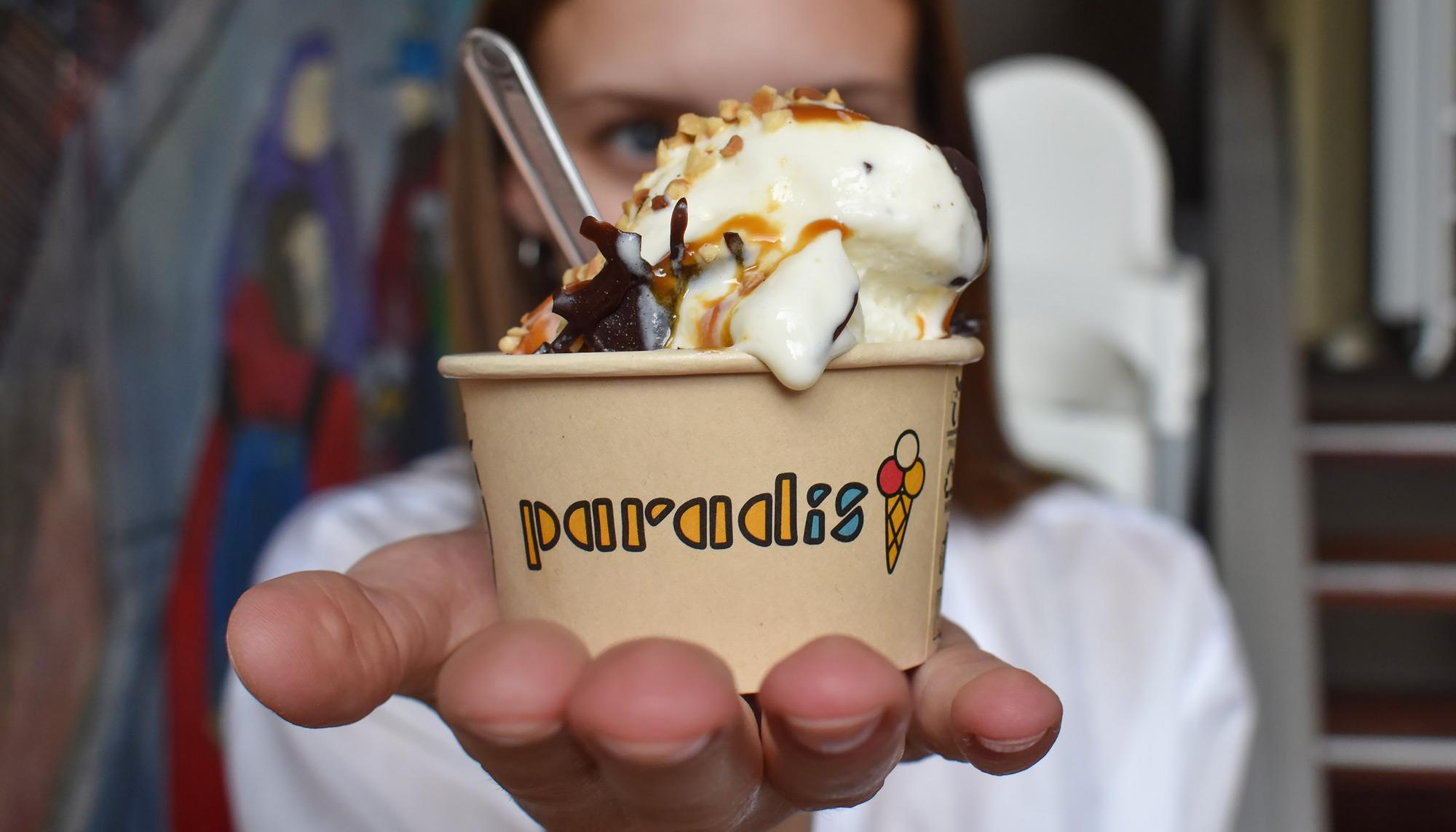 Lokalt samarbejde hitter: Få gratis Paradis-is hos Spiret i hele juli