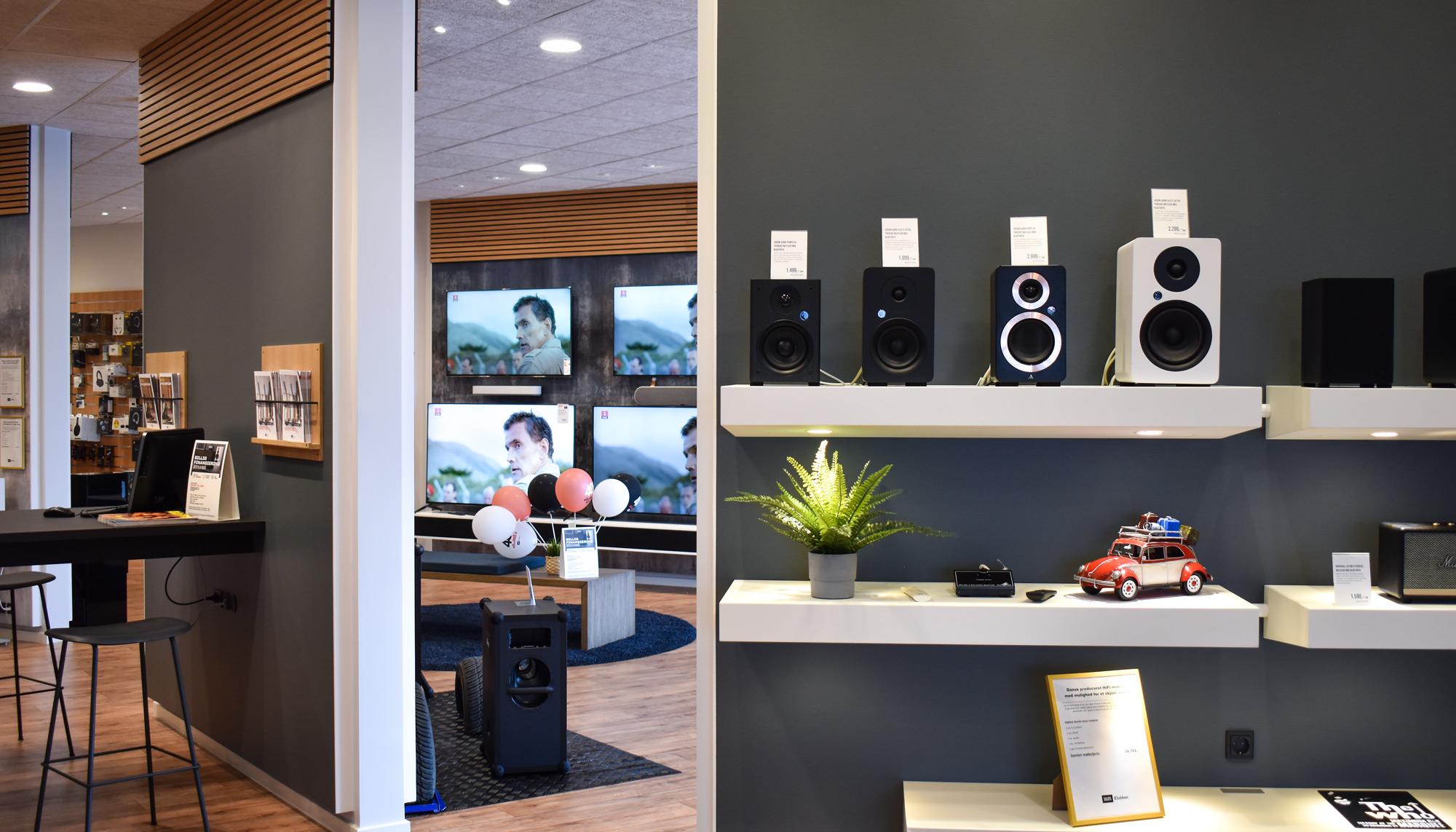 Kæmpe showroom med det vildeste udvalg: HiFi Klubben har åbnet ny butik i City Syd