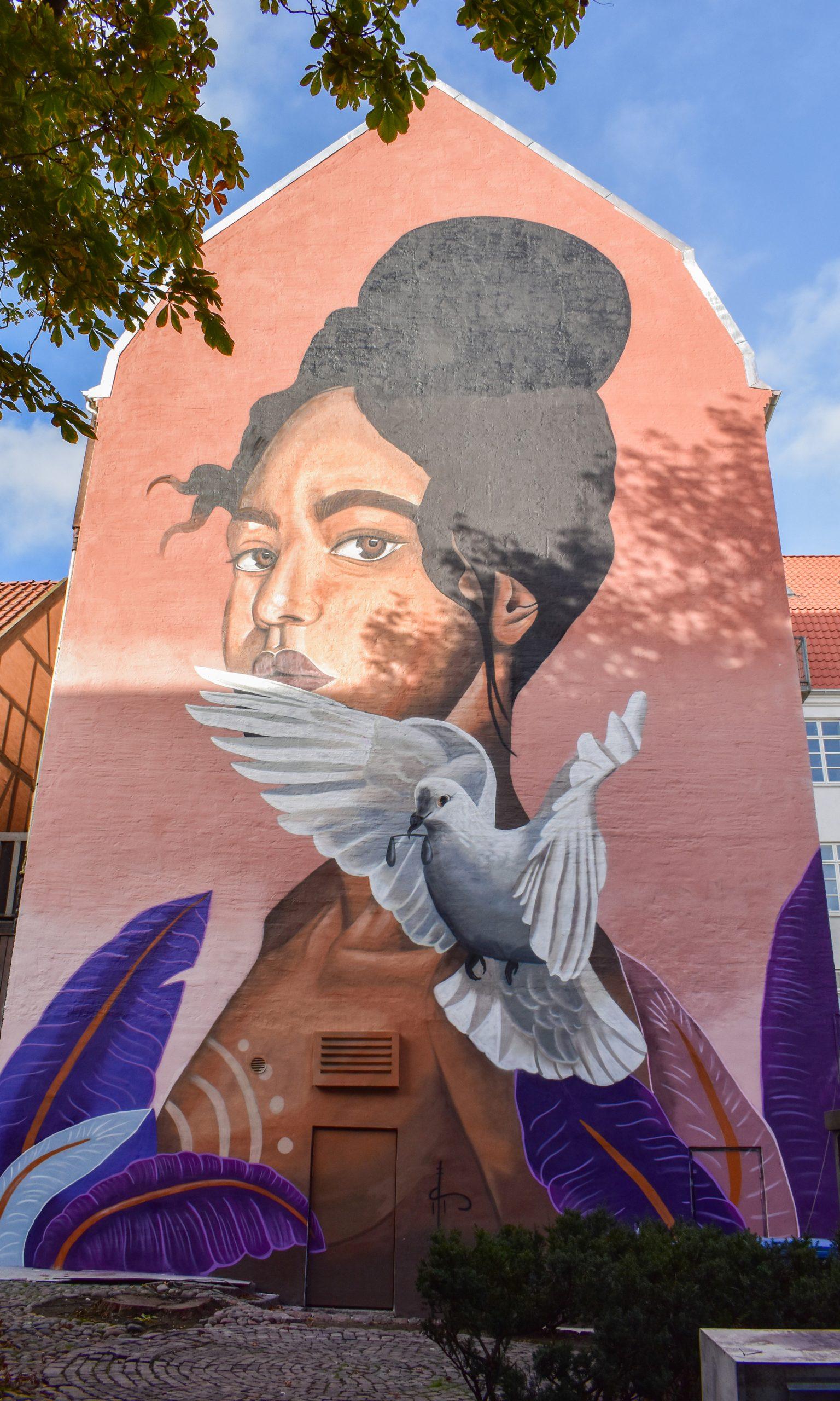 Endnu mere Street Art: Lokal kunstner laver kæmpe gavlmaleri i Aalborg