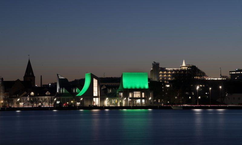 Utzon Cetner med Grønt lys Foto: © Lars Horn / Baghuset. Dato: 26.11.20