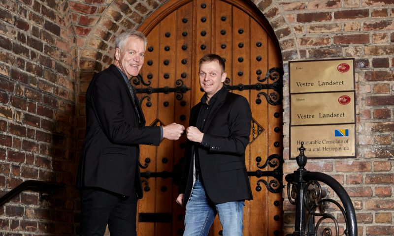 Peter Rask (tv) og Jesper Nikolajsen klar til et nyt samarbejde.