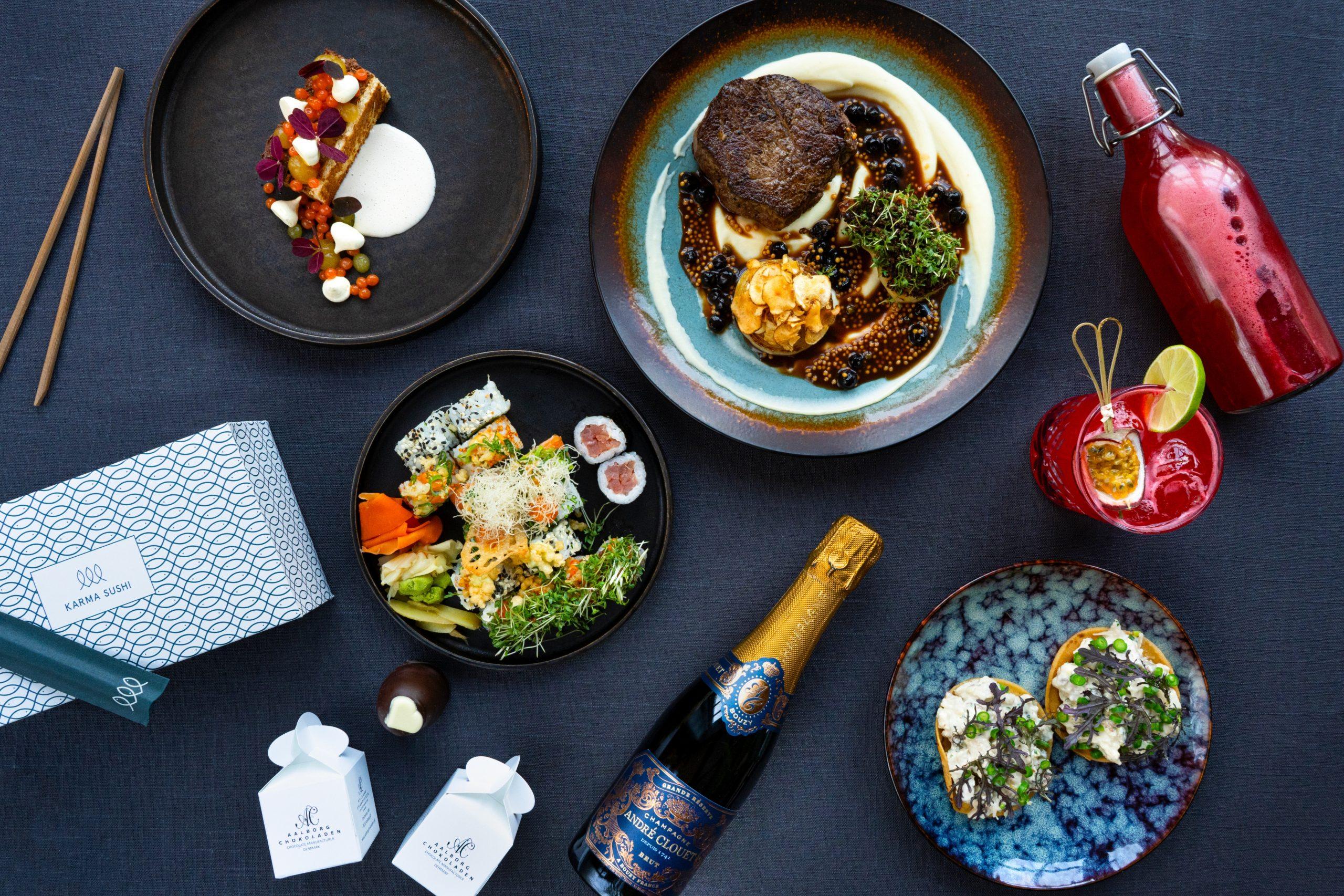 Mad fra Applaus, Nam og Karma Sushi: Laver luksus Valentines Takeaway middag