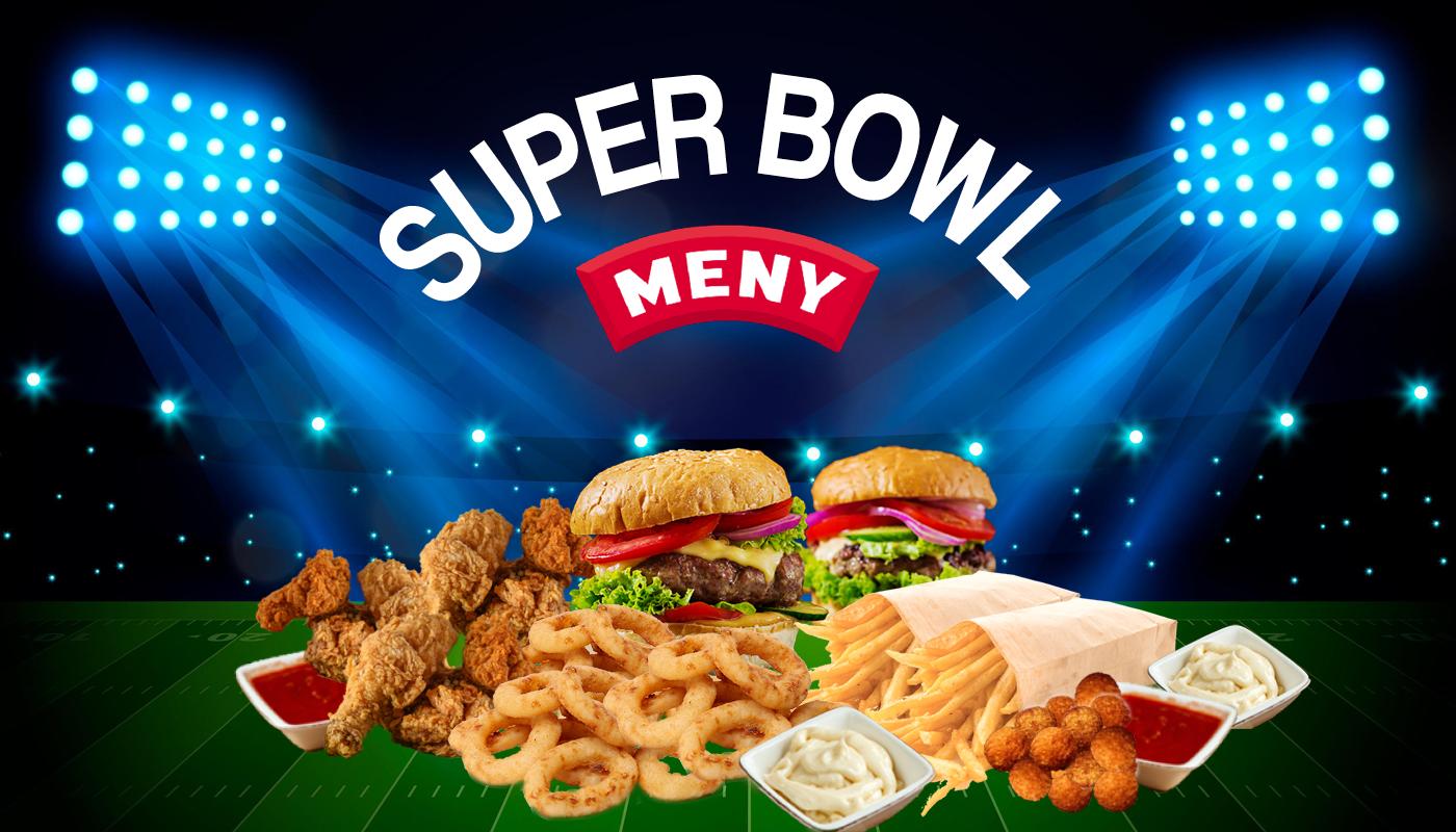 Burger, wings og Fries: Her får du en American Super Bowl-menu med det hele