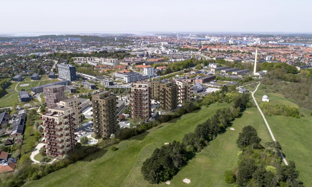 Få byens bedste udsigt: Flere af Parkbyens lækre lejligheder kan nu lejes