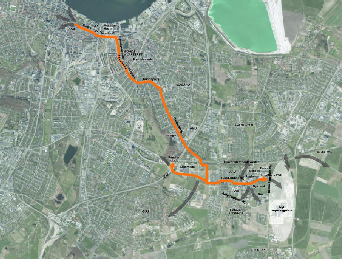 Mere plads, færre stop og bedre service: Nu får Aalborg sin første supercykelsti