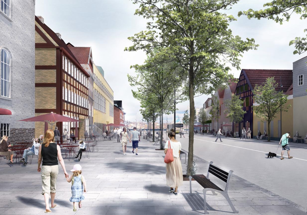 Fortsætter til december: Plusbus-arbejdet spærrer Østerågade