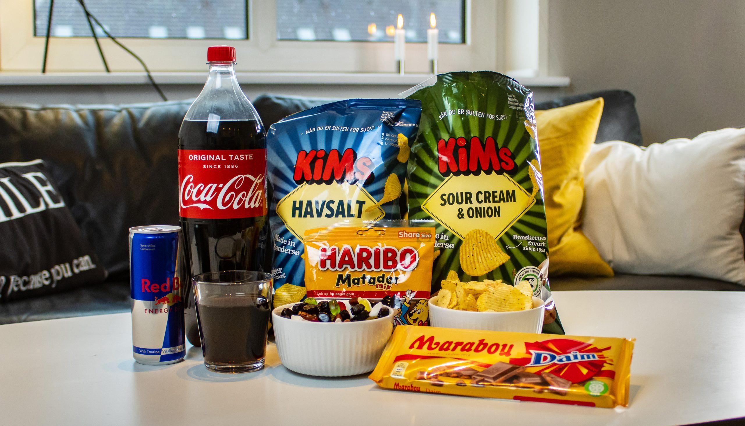 Førstehjælp til aftenhyggen: Nu kan du få snacks leveret direkte til døren
