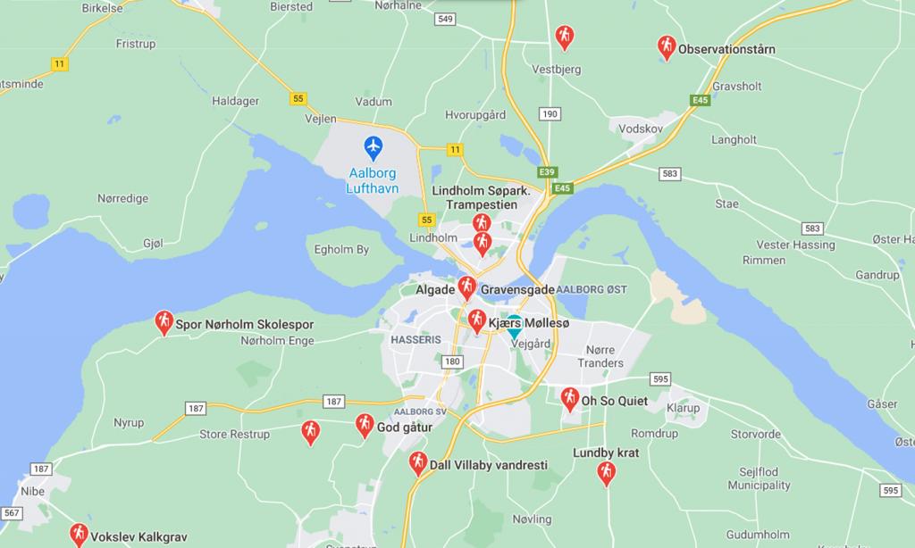 Nyt partnerskab: Bliv guidet til Aalborgs flotteste vandreruter via Google Maps