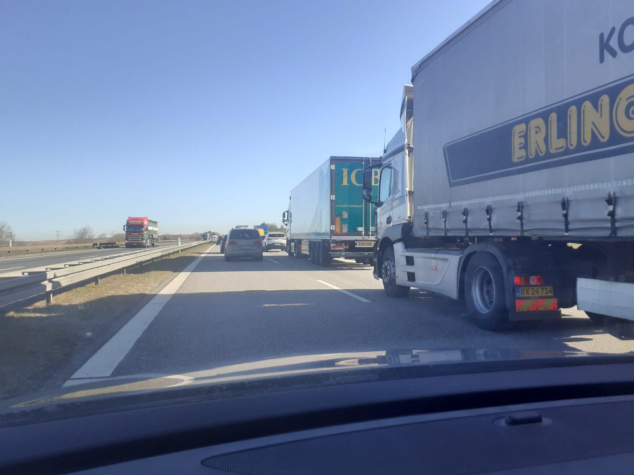 Vær opmærksom: Alvorlig ulykke i nordgående retning på motorvejen