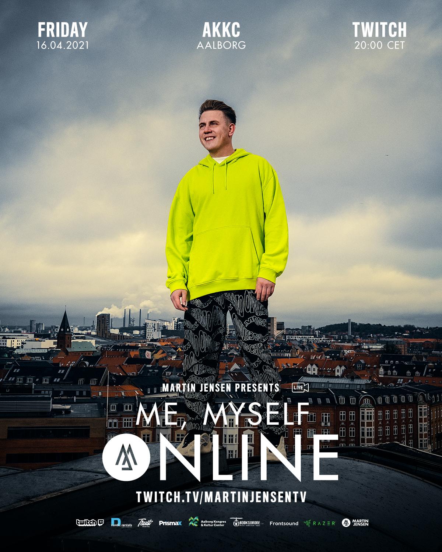 Streames ud til hele verden: Martin Jensen laver vildt Live-show i 35 meters højde i Aalborg