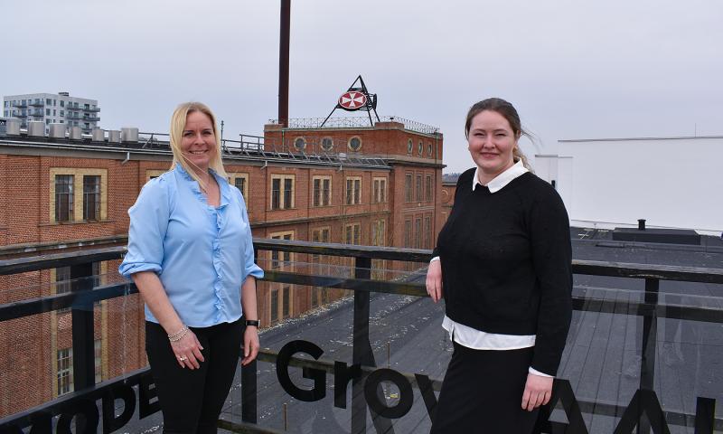 Lone Borg, erhvervsservicechef i BusinessAalborg, og Lene Lund, regionsleder i Fonden for Entreprenørskab i Nordjylland.