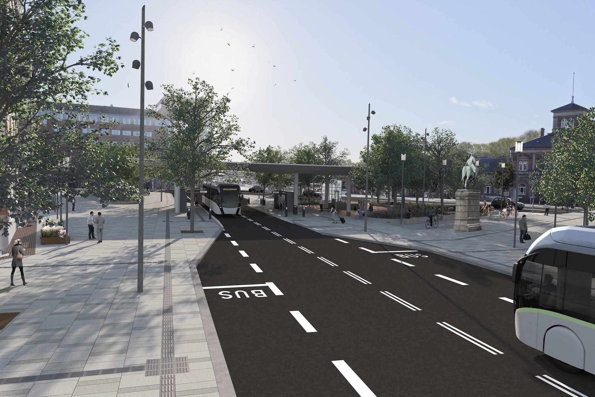 Bliver knudepunkt: Nu går man i gang med Plusbus-station på Kennedys Plads