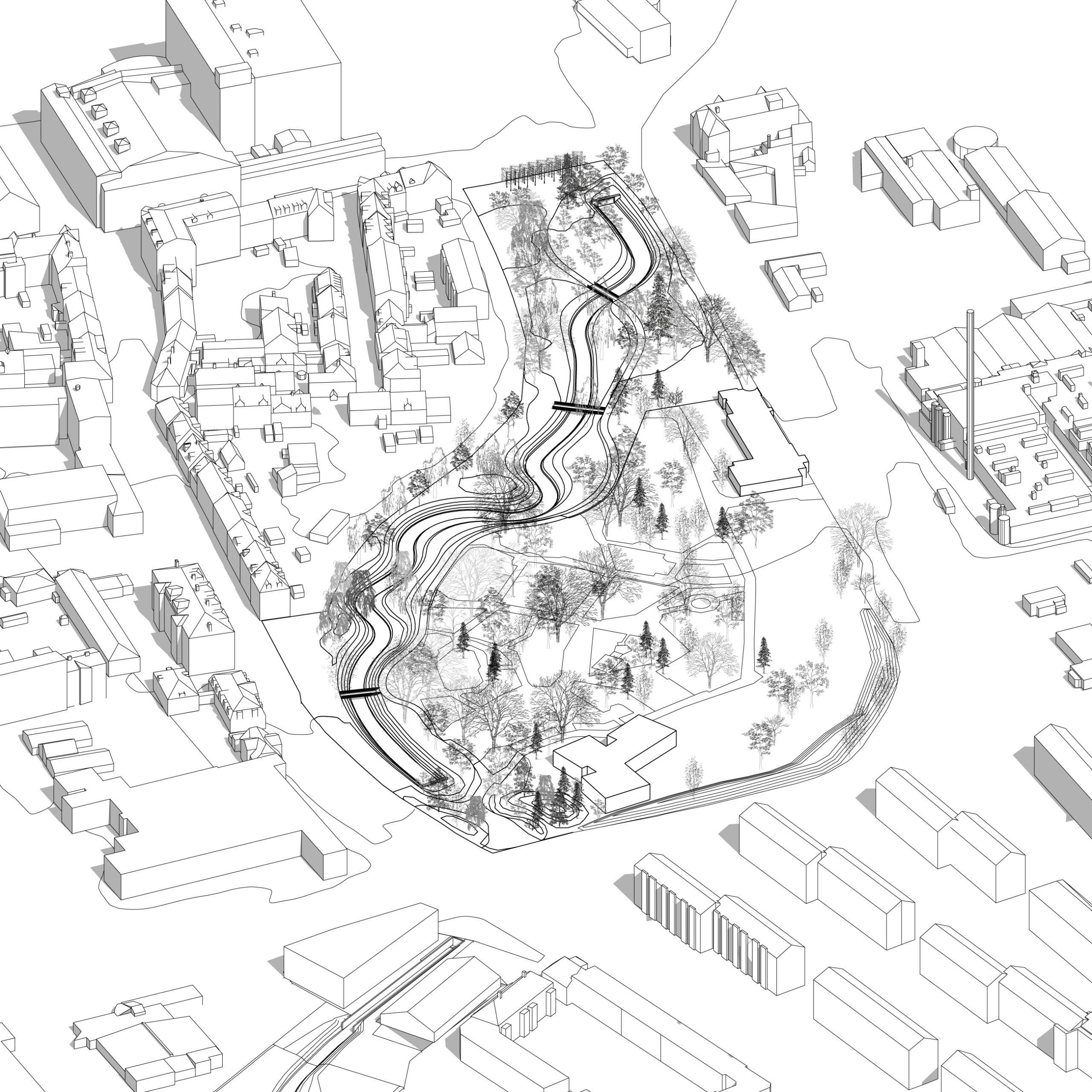 Ny bypark på vej: Nu åbnes Østerå i Karolinelund