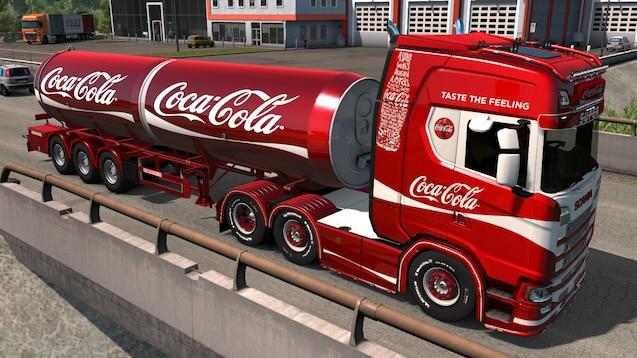 OBS - dette er arkivfoto af en Coca-Cola bil