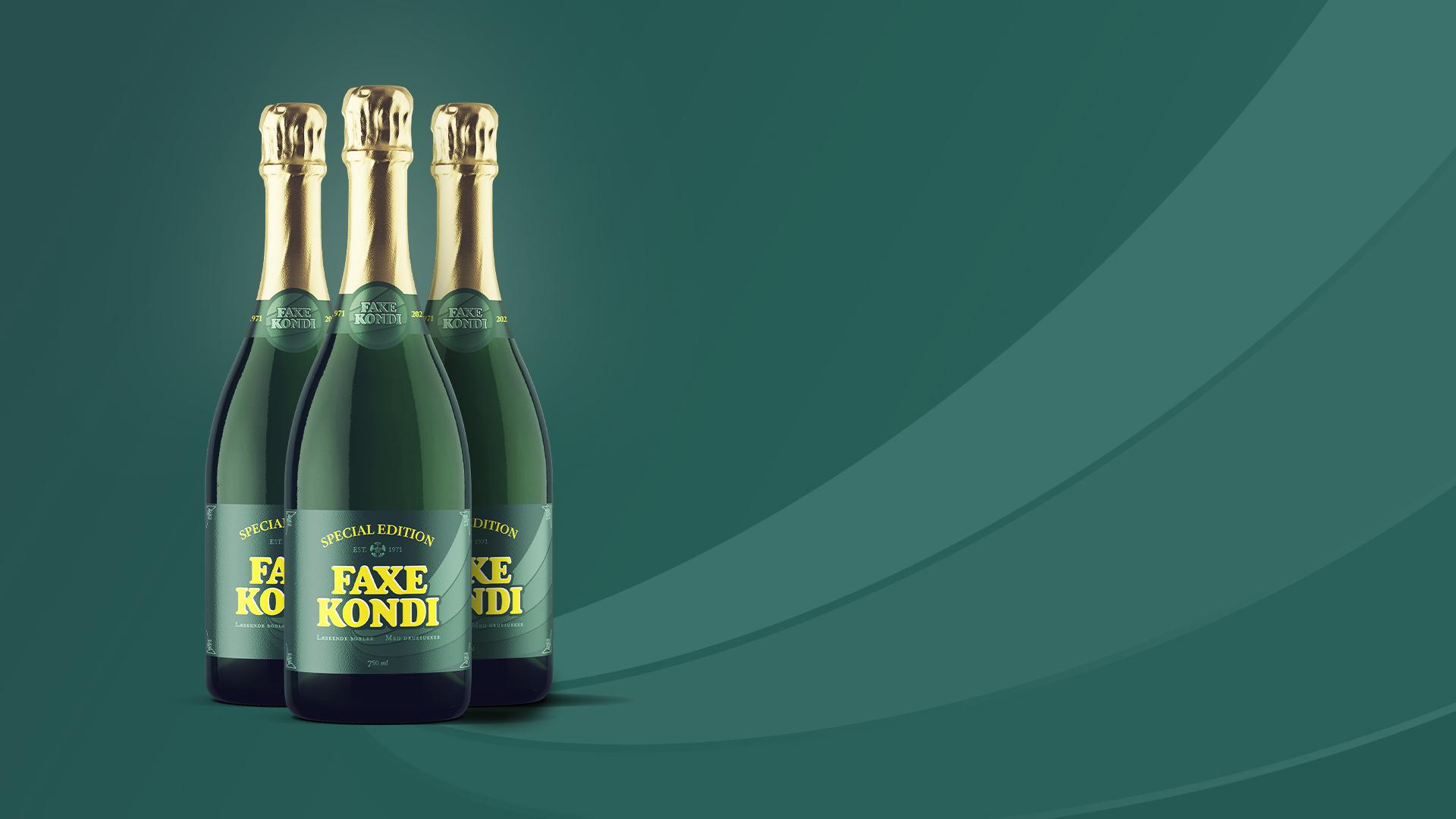Fejrer 50 års jubilæum: Nu kan du få Faxe Kondi som champagne