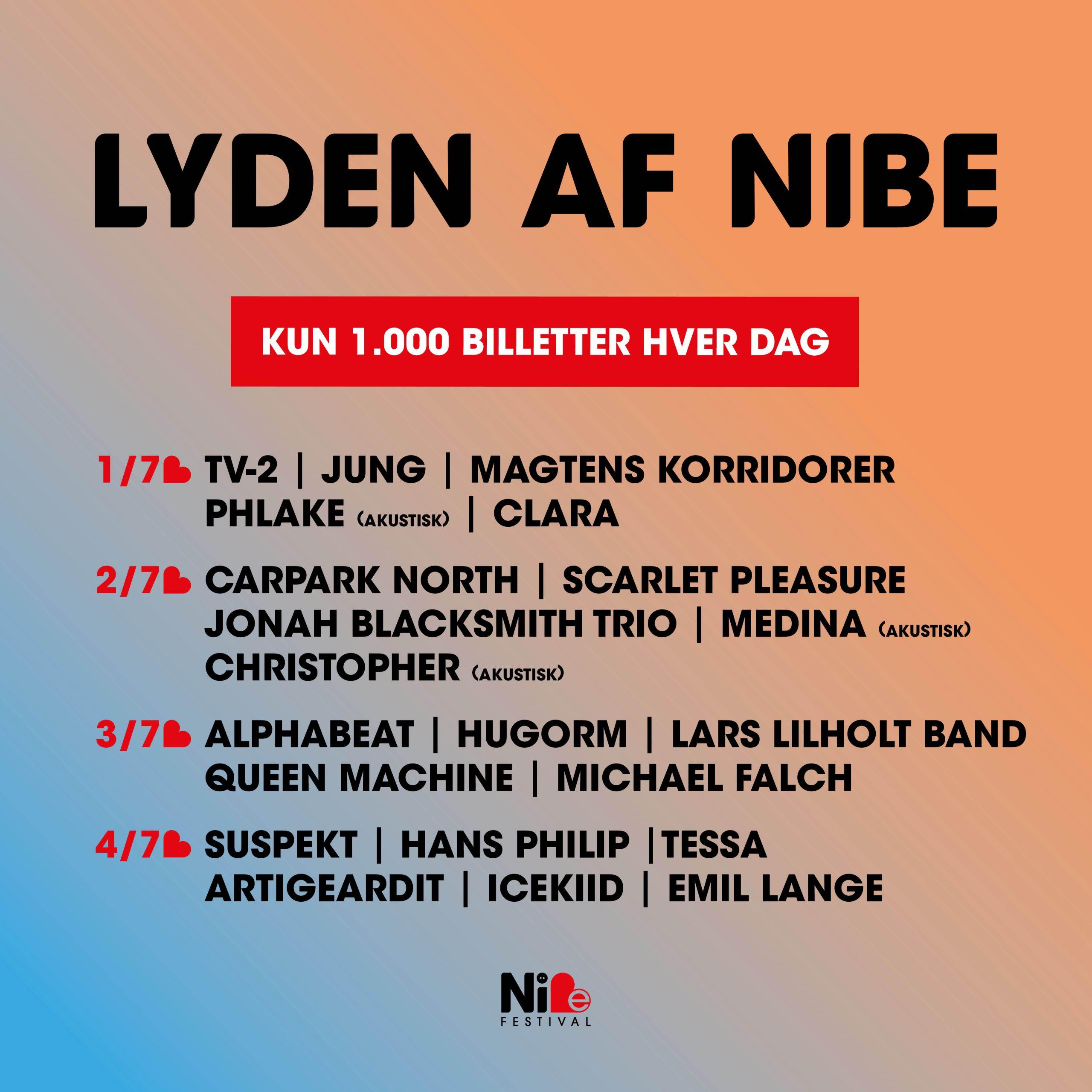 Store navne i intime rammer: Nibe Festival præsenterer LYDEN AF NIBE