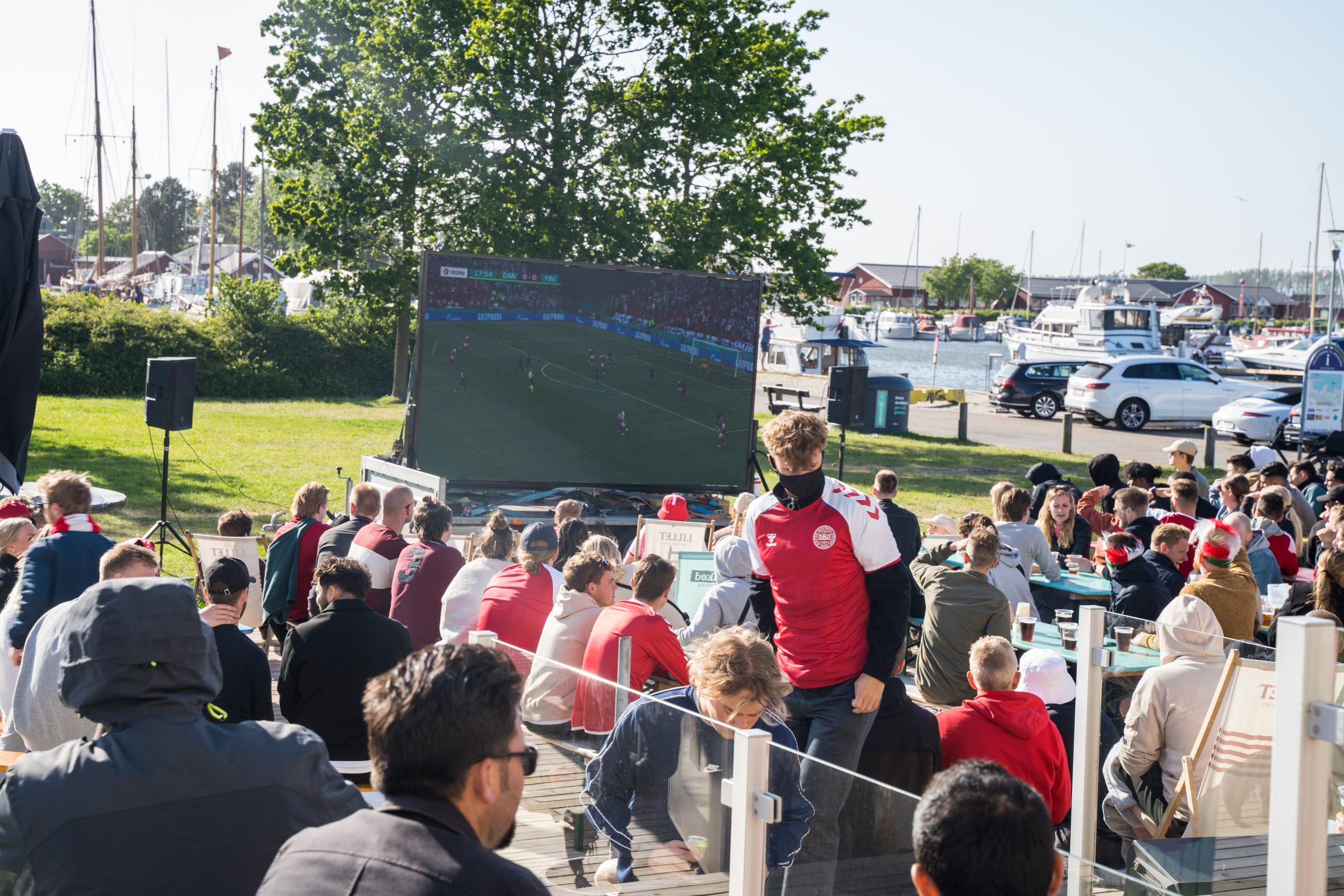 Helt gratis: Aalborg Streetfood viser alle EM-kampe på storskærm