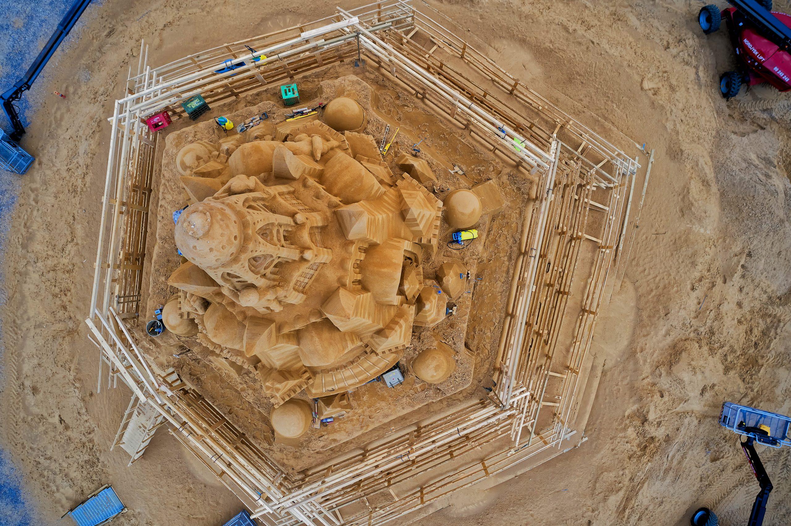 Gratis adgang: Verdens største sandslot indvies i Blokhus i næste uge