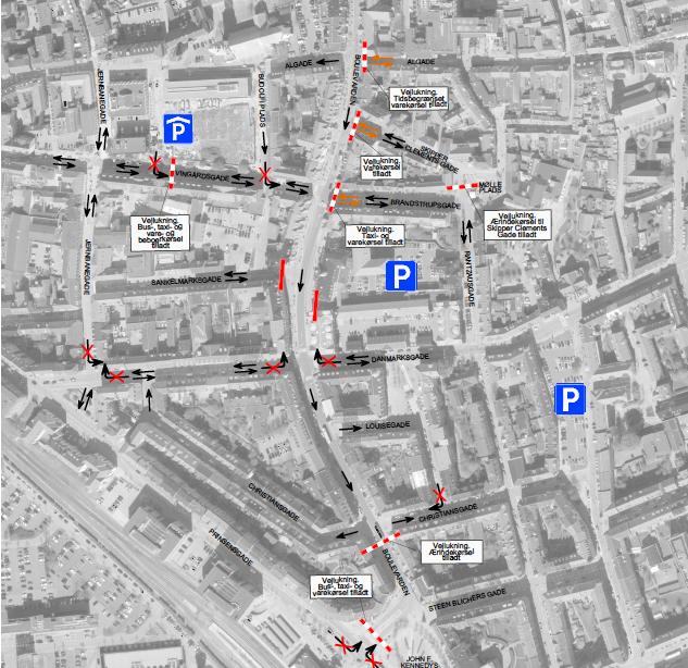 Boulevarden spærres i nordgående retning: Flere trafikale ændringer fra næste uge