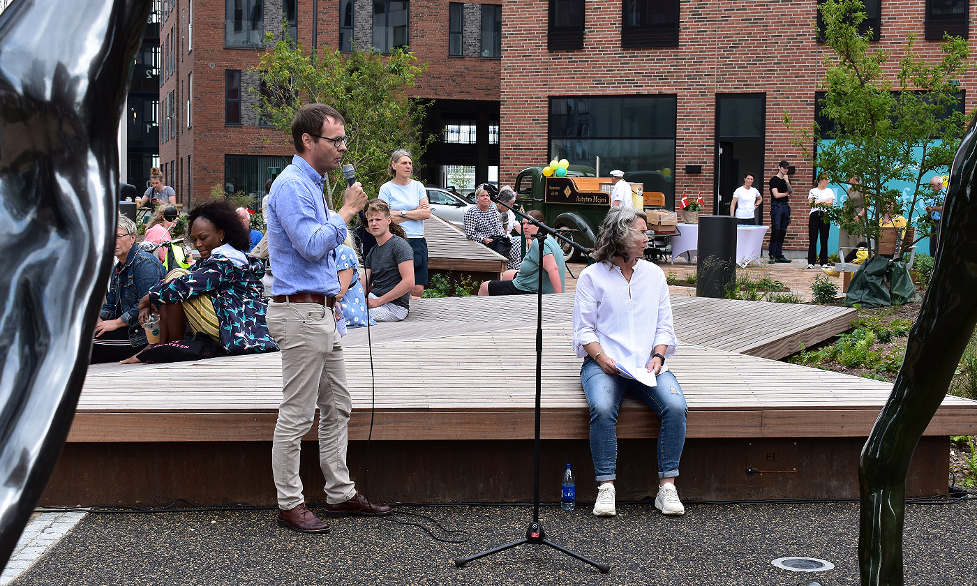Stjernepladsen indviet i dag: Første prøvesmag på Aalborgs nye is-café
