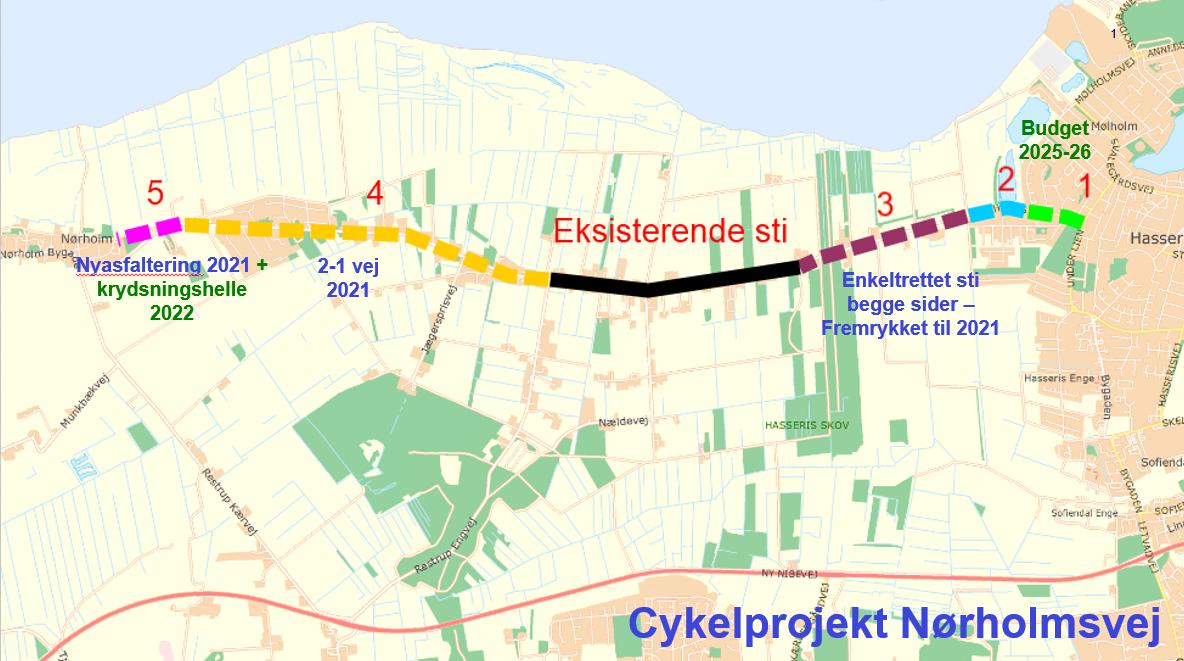 Godt nyt til cyklister: Stort cykelsti-projekt fremrykkes
