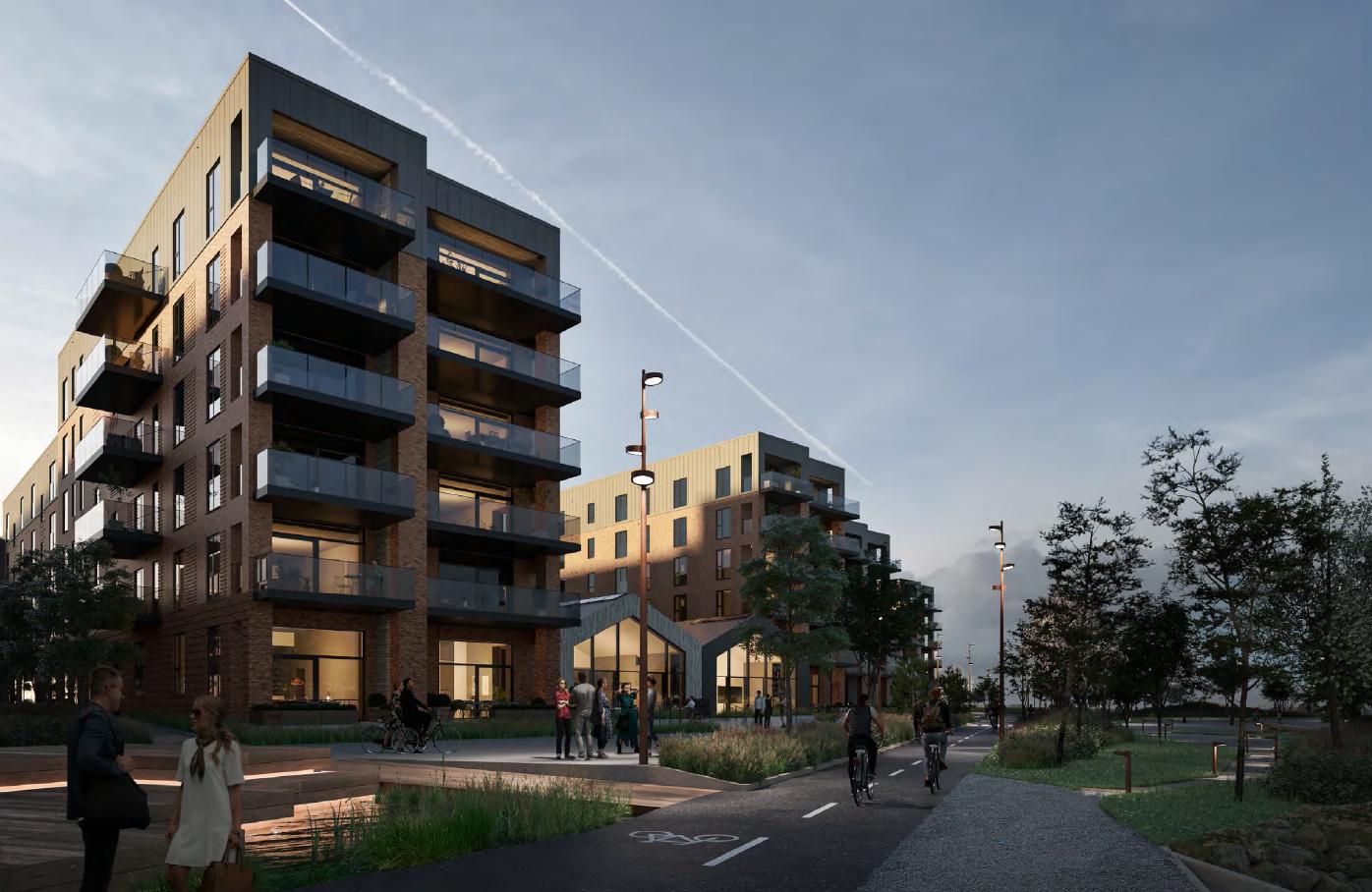 Rejsegilde på Havnebryggen: Her kommer 91 nye boliger direkte ud til Limfjorden