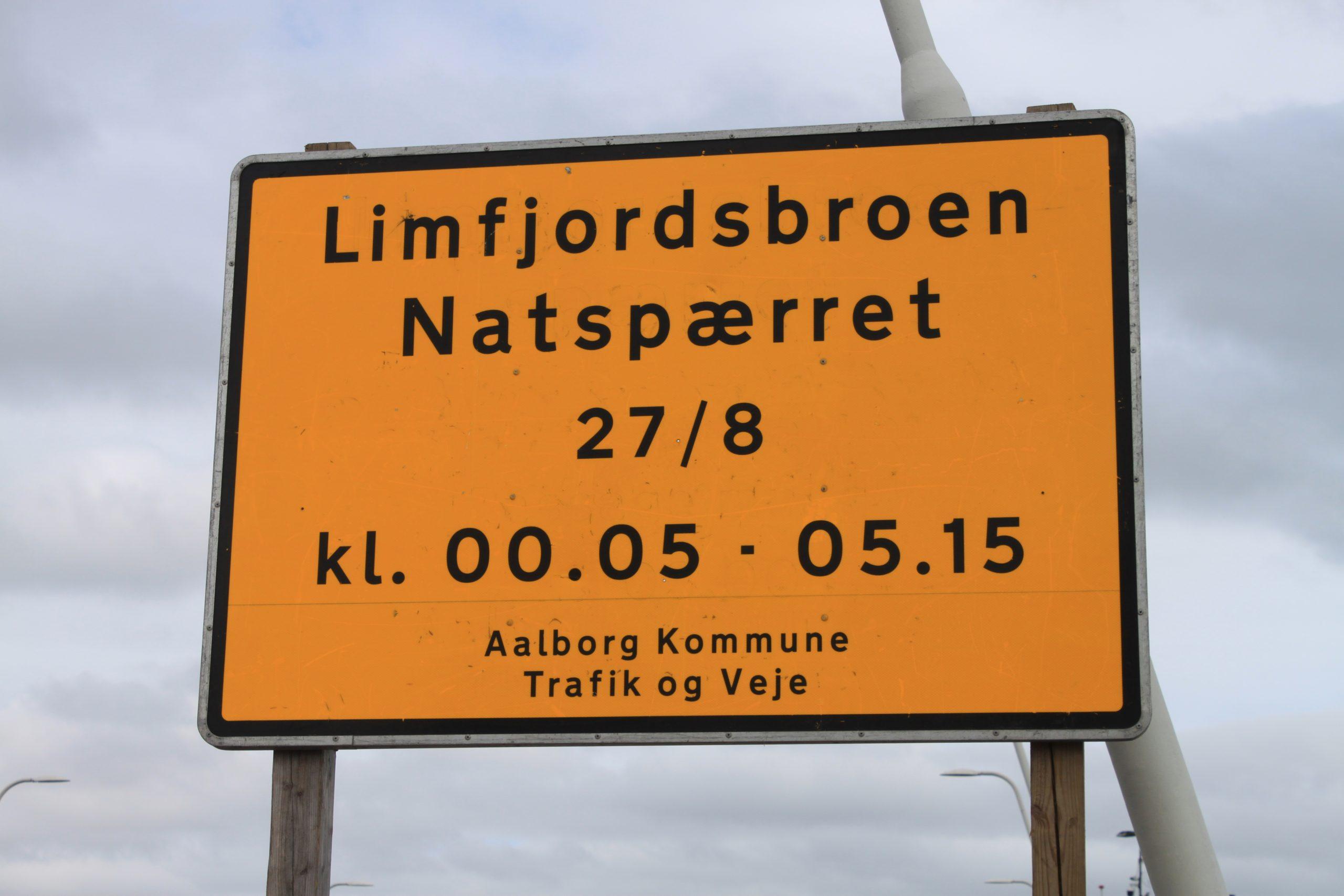 Vær opmærksom: Limfjordsbroen spærres i nat