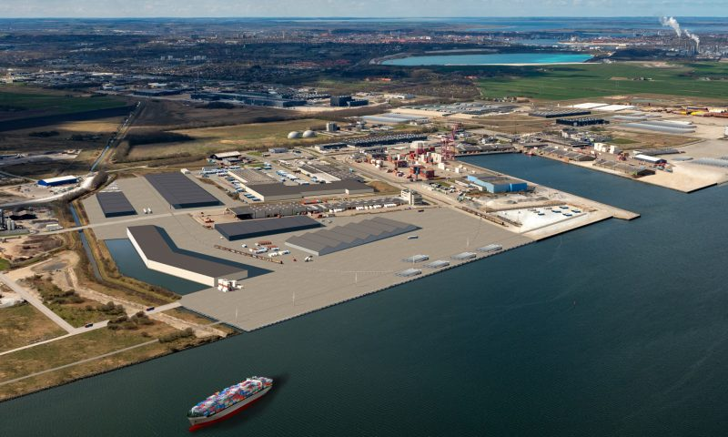 Visualisering af den nye havn. Foto: Port of Aalborg