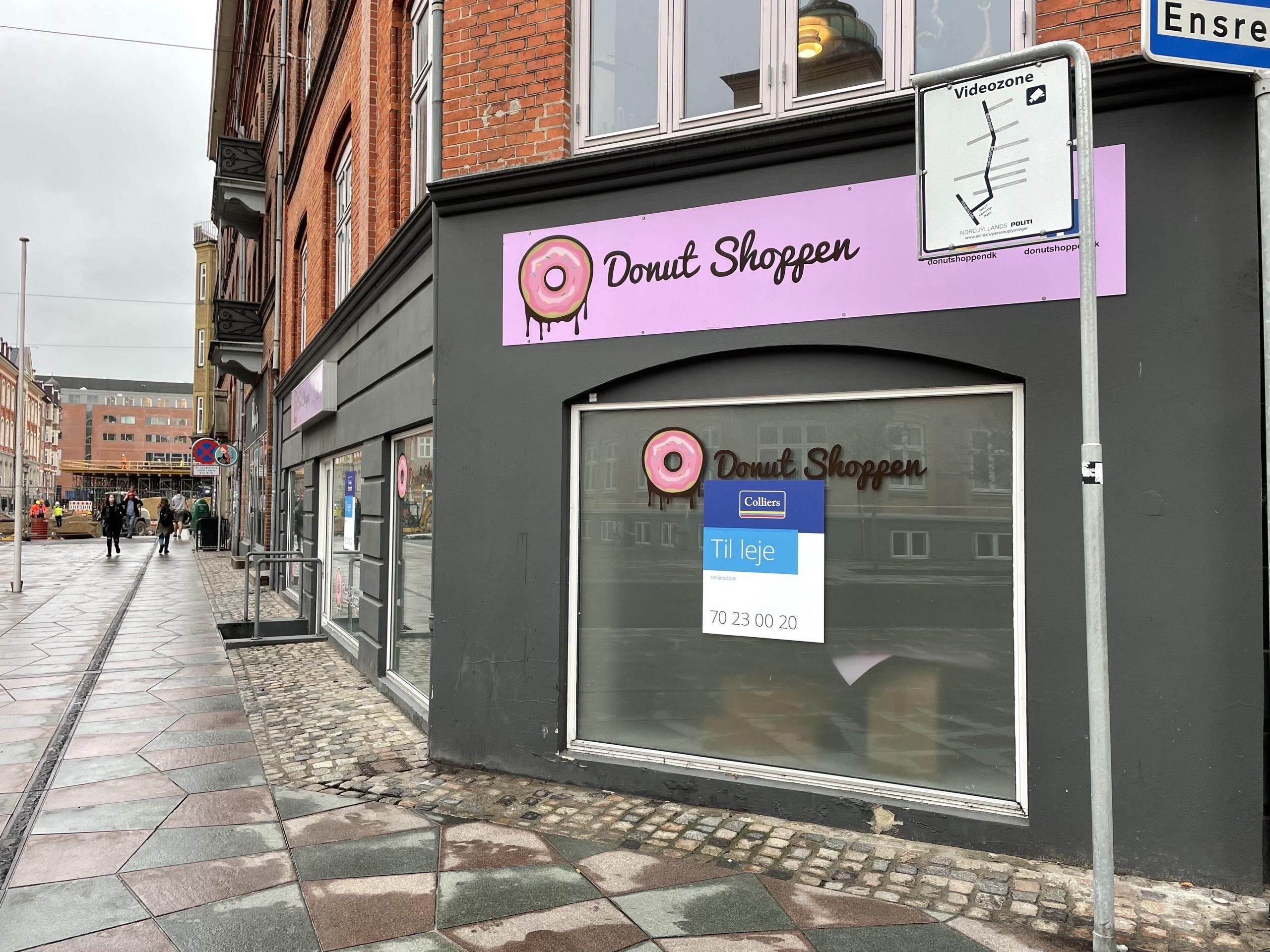 Fra fire til to: Endnu en donutshop er lukket ned