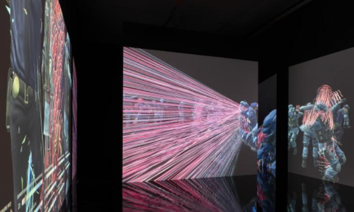 SocialSim, 2020 Single channel HD video and computer simulations Dancing Mania © Hito Steyerl & VG Bild-Kunst, 2021