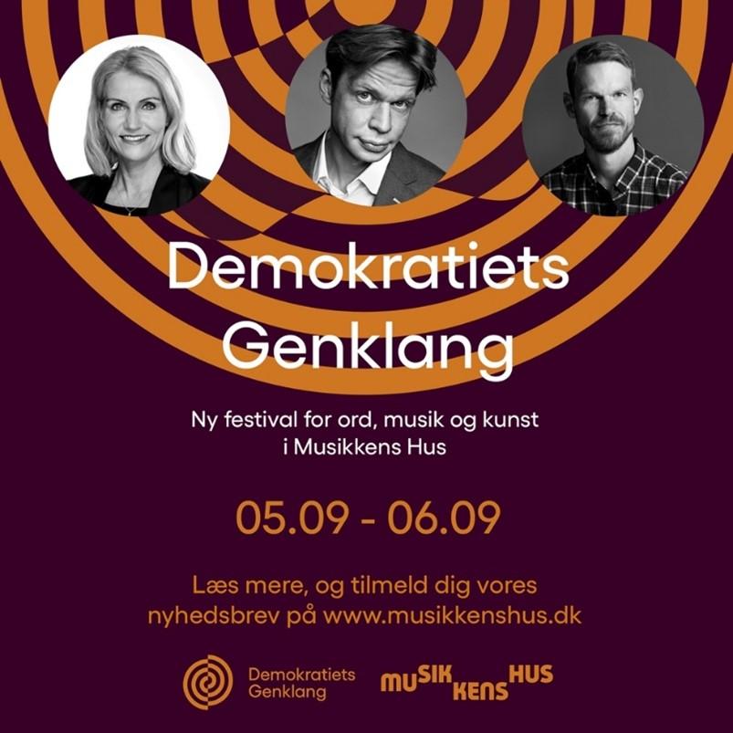 Gratis debatter og minikoncerter: Kom til Demokratiets Genklang i weekenden