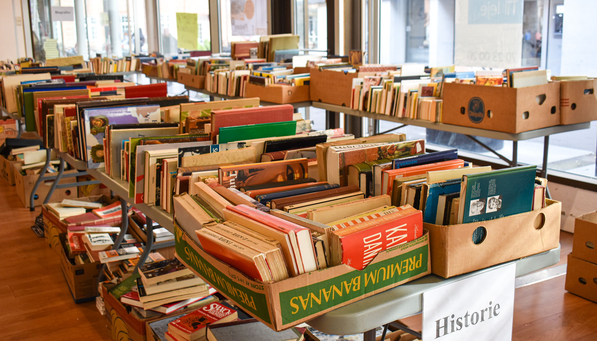 Over 10.000 bøger: Kom til kæmpe bogudsalg i næste uge